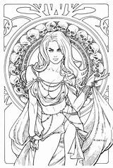 Death Lady Line Coloring Deviantart Pages Regal Jewel Edition Adult Drawings Books Colouring Sheets Ladydeath Printable Linework Drawing Designlooter Dragon sketch template