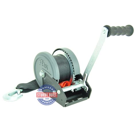 Boat Trailer Winch Strap by Dlx Boat Trailer Winch 1200 Lb Capacity With Winch Strap