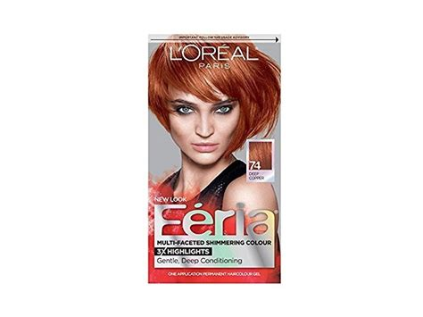 L'oreal Feria Permanent Haircolor Gel, 74 Copper Shimmer