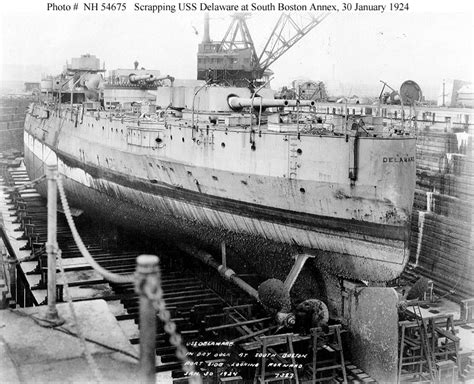 Boat Salvage Yard Baltimore by Usn Ships Uss Delaware Bb 28