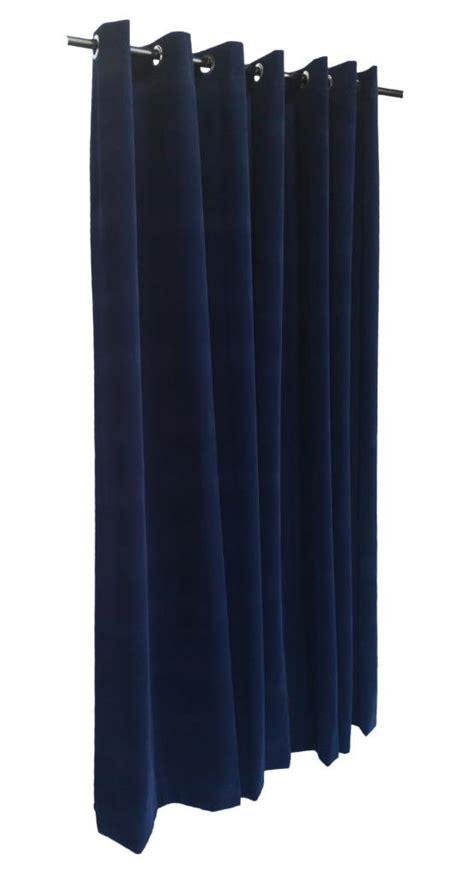 navy blue 144 inch velvet curtain panel w grommet top