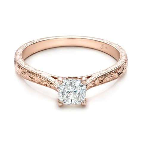 custom rose gold solitaire diamond engagement ring 101618