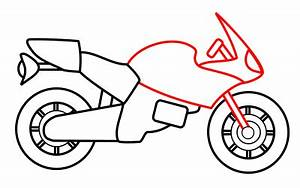 Drawing a cartoon motorcycle