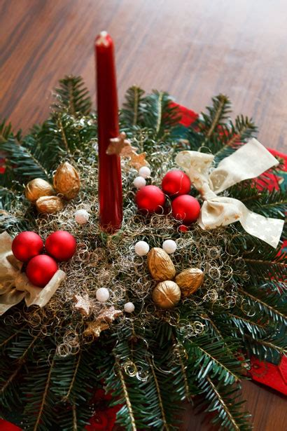 christmas candle decoration  stock photo public