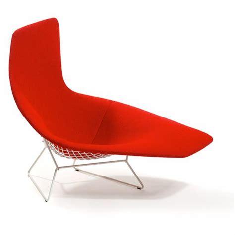 chaises knoll bertoia asymmetric chaise lounge knoll modern