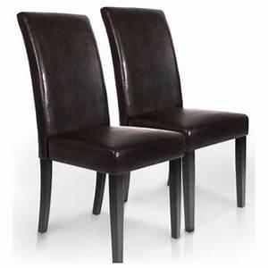 chaise de salle a manger simili cuir With meuble salle À manger avec chaise salle a manger simili cuir