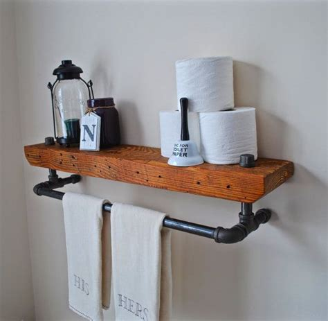 bathroom shelves wow your visitors as this handmade vintage industrial Industrial