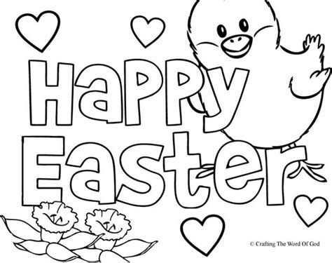 Free^ Happy Easter Coloring Pages Printable For Adults