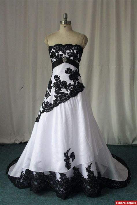 white black lace wedding dress like the colored lace