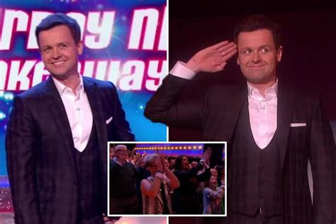 Declan Donnelly gets an emotional standing ovation on ...