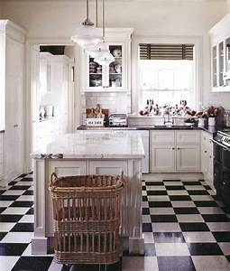 emejing cuisine carrelage damier noir et blanc gallery With carrelage cuisine blanc et noir