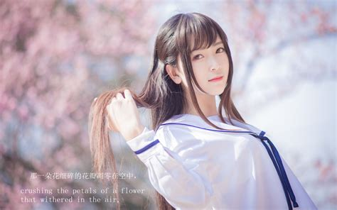 小清新日系JK制服少女唯美写真桌面壁纸图片下载-美女壁纸-壁纸下载-美桌网