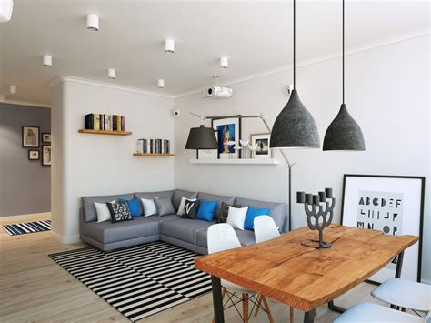 black and green rug going scandinavian in style space savvy apartment in moscow