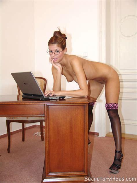 Naughty Office Babe Lucky Naked In Stocking XXX Dessert