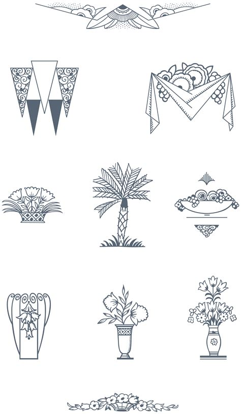 ultimate art deco vector pack  decorative frames