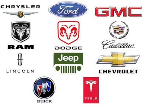 List And Logos Of American Cars