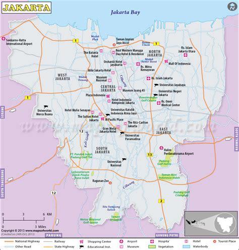 jakarta indonesien karte kleve landkarte