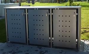 Unterstand Für Mülltonnen : m lltonnenbox holz l rche mit alu komplett aus l rche ~ Lizthompson.info Haus und Dekorationen
