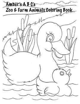 farm  zoo baby animals coloring book  amber