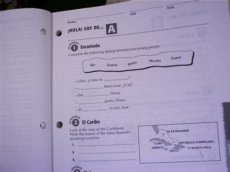 avancemos 1 worksheets kidz activities