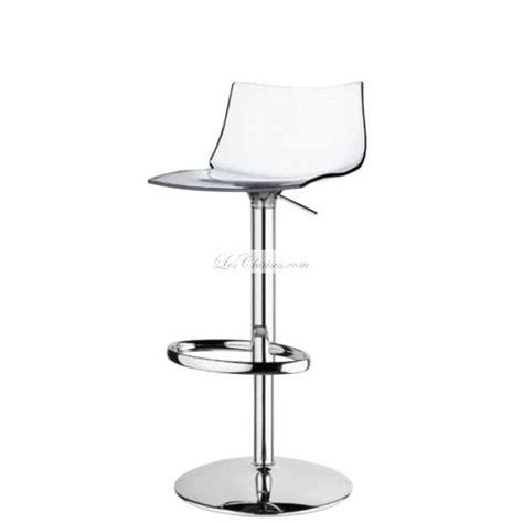chaise de bar transparente tabouret réglable transparent et tabourets réglable design