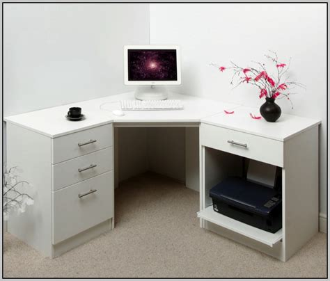 White Corner Desk With Drawers Download Page ? Home Design