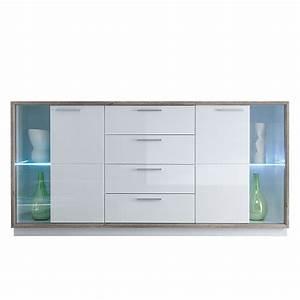 Sideboard Weiß Hochglanz 180 : sideboard bacara wei hochglanz ~ Bigdaddyawards.com Haus und Dekorationen