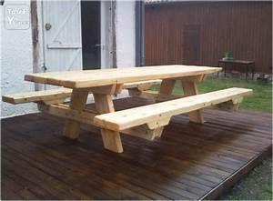 Banc Bois Massif : table avec banc en bois massif labouheyre 40210 ~ Teatrodelosmanantiales.com Idées de Décoration