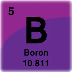 Boron Element Atomic Mass