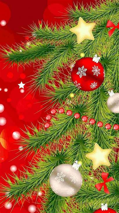 Iphone Christmas Tree Backgrounds Wallpapers Phone Stars