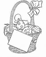 Easter Basket Pages Coloring Colouring Print Printable sketch template