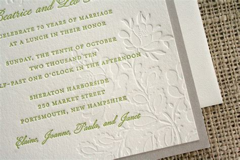 70th Wedding Anniversary Invitations