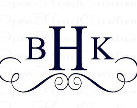 monogram fonts letter monogram  monogram decal  pinterest