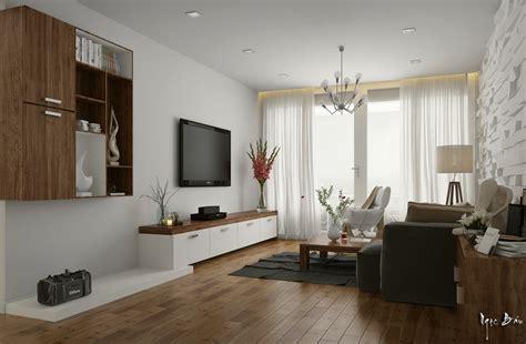 White Walnut Living Room  Interior Design Ideas