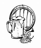 Coloring Beer Stein Mug Bier Barrel Father Template Mehr sketch template