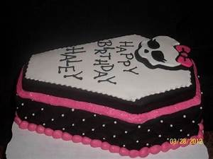monster high cake coffin cake cakes pinterest With coffin cake template
