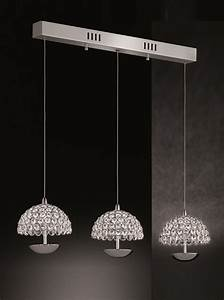 Franklite illusion light led ceiling pendant polished