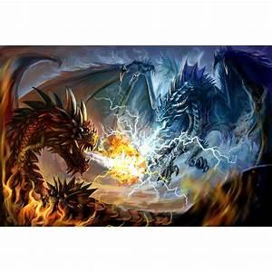 Two Fighting Dragons Myth