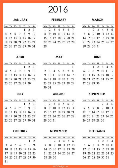 2016 calendar template 2016 calendar free large images