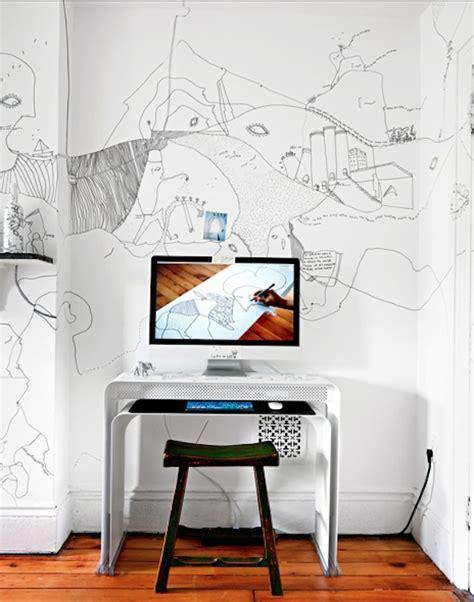 papier bureau inspiration déco du papier peint pour un bureau créatif