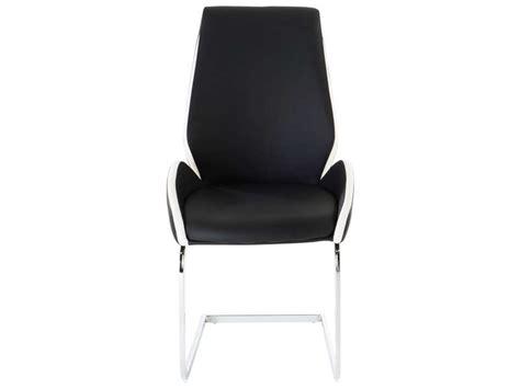 chaise noir et blanc chaise indiana coloris noir et blanc vente de chaise conforama