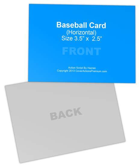 Baseball Card Mock Ups Cover Actions Premium Mockup Trading Card Mockup 3 5 X 2 5 Cover Actions Premium