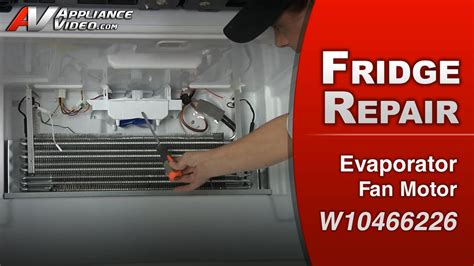 fridge fan motor replacement whirlpool wrf989sda refrigerator not