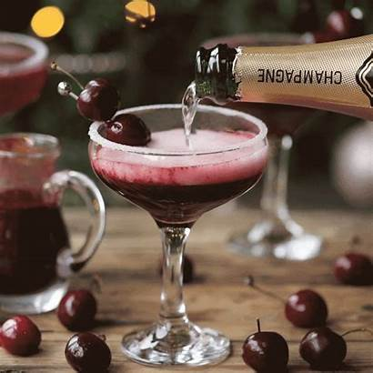 Cherry Bellini Cocktail Recipe Fruit Puree Cinemagraph