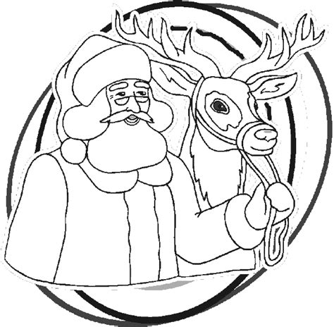Santa Rudolph Reindeer Coloring Pages
