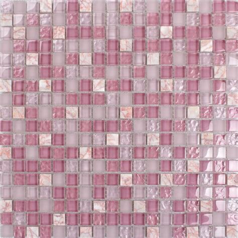 wholesale pink mosaic tile sheet square
