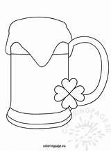 Beer Saint Patricks Patrick Coloring Reddit Coloringpage Eu sketch template
