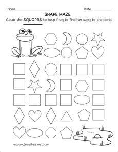 square shape activity sheets  school children