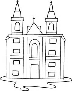 Free Printable Coloring Page Catholic Church