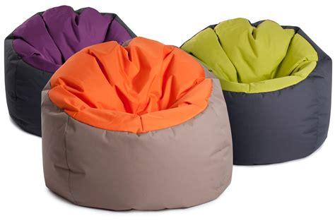 pouf chambre pouf geant bowly bicolore confortable jumbo bag